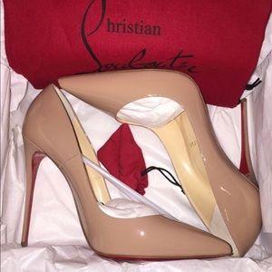 Christian Louboutin So Kate Patent Nude